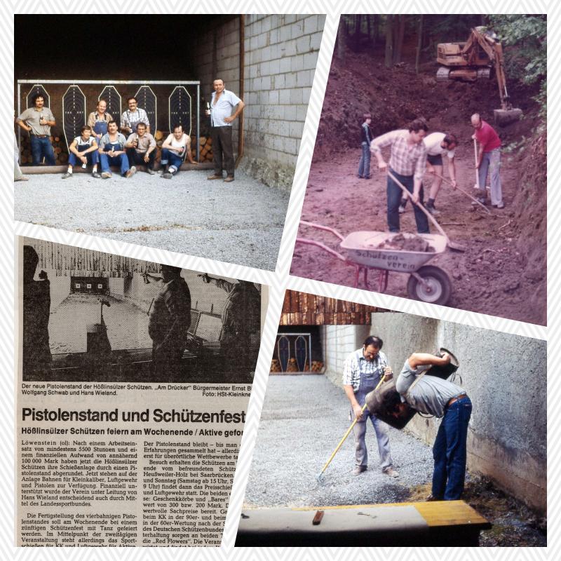 1979 - 1989: Pistolenstand und Umbauarbeiten